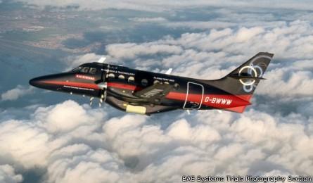 """由英国航空航天公司bae研发的16座""""高速气流""""型涡轮螺旋桨飞机成功"""