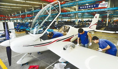 各型通用飞机从株洲销往全国各地