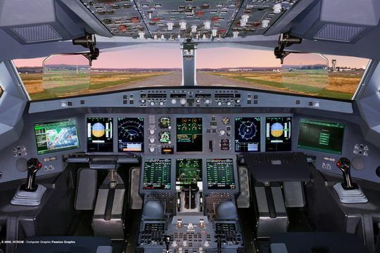 空中客车a350 xwb飞机驾驶舱