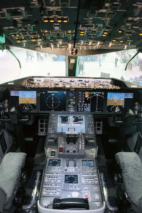 波音787驾驶舱内景