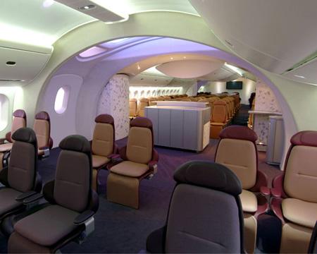 波音和787梦想飞机豪华机舱