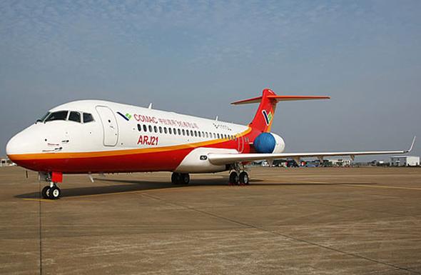 中国arj21-700飞机获印尼鸽航40架订单