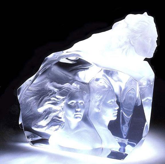 冰清玉洁的人体艺术冰雕欣赏(图)