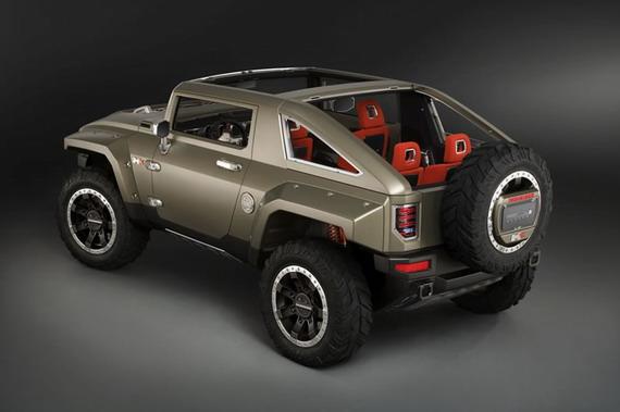 悍马hx概念车造型像蛤蟆?