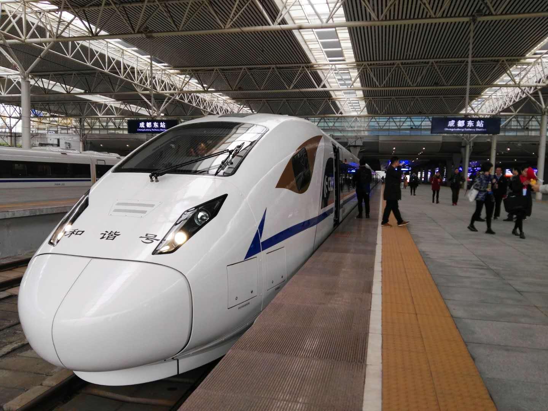 西成高铁今起开始全线拉通空载模拟运行 成都到西安4小时
