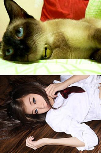 儿童动物模仿妆