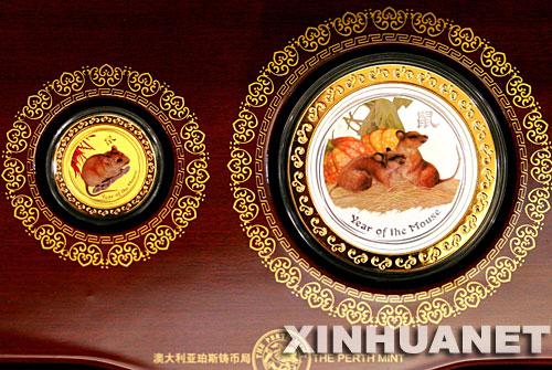 """为迎接农历鼠年的到来,澳大利亚珀斯铸币局近日发行了""""金鼠开运""""生肖图片"""