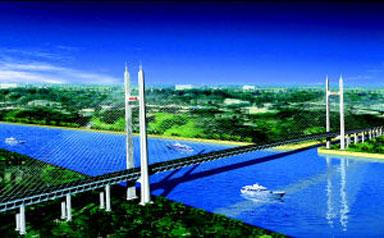 上海市黄浦江大桥_上海名胜古迹黄浦江大桥