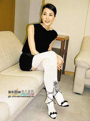 王菲的黑衣旗袍装扮性感(图)秘诀采集图片性感美女高清图片
