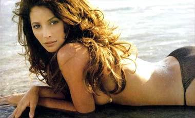 美国名模克里斯蒂 特灵顿在全球百大美女评选中