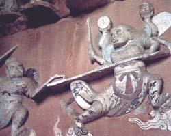 阿修罗战帝释天故事图局部石门山8号公元1136-1141年(南...